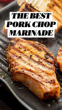 Pork Tenderloin Recipes, Pork Chop Recipes, Meat Recipes, Chicken Recipes, Dinner Recipes, Cooking Recipes, Grilled Dinner Ideas, Grilled Recipes, Grilled Food