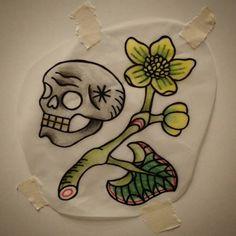 +STA.DEMONIA TATTOO BARCELONA SARA+ Skull with Kabbeleka for Miguel! Www.stademonia.com #Tattoo #Flash #Skull