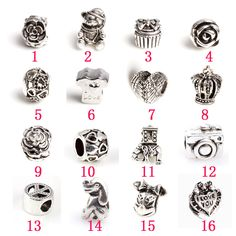 The new DIY jewelry beads insulation alloy fittings silver big mail eye much money(16PCS)$10