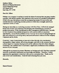 Superb Internship Cover Letter Example
