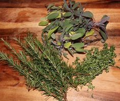 A flavorful butter rub made of fresh sage, thyme and rosemary and mixed with spices for roast turkey or chicken.