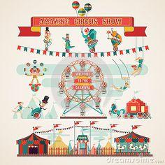Elementos Del Circo. Imagen de archivo libre de regalías - Imagen: 26173256