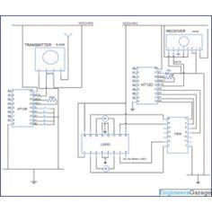 wireless rf remote control circuit diagram