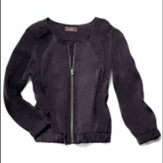 Great score jacket mark. Great Score Jacket A relaxed baseball-style jacket done up in a silky fabric. Silvertone zipper. 100% polyester. Imported.  Size : XL(15) Jackets & Coats