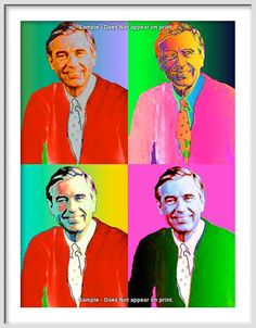 MR. ROGERS 4X Portrait Fine Pop Art Giclee Print by EisnerArt, $25.00