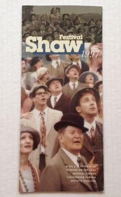 Shaw Festival 1997 Brochure Theater Program Canada Theatre Souvenir Book