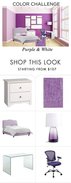 """Purple & White"" by kyt7078 ❤ liked on Polyvore featuring interior, interiors, interior design, home, home decor, interior decorating, Prepac, Dalyn, Skyline and Arteriors"