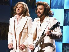 SNL Justin Timberlake and Jimmy Fallon doing the Barry Gibb Talk Show sketch - one of my favorites!
