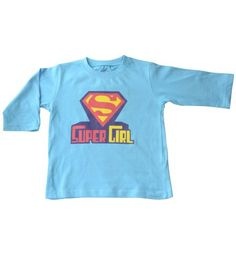 Super Girl - Organic cotton tee for toddlers