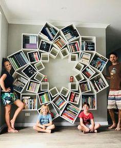 Дизайн книжных полок от австралийской пары