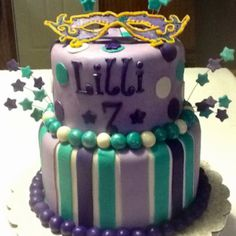 Mask birthday cake