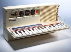 On-the-go Drum Machine  Casio PT-7. 1982  … #80stech #80sproduct #productdesign #80s #eighties #80stechnology #1982 #80slook #80sstyle #80sdesign #retrodrummachines #vintagedrummachines #80sdrummachines #synthwave #synthesizer #synth #80synth #80scasio #casio #casiopt7 #casiolove