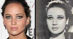 Estas 30 fotos de celebridades con sus dobles de otra época te darán escalofríos