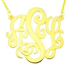 """Mono08 Personalized Sterling Silver with 14 Karat Yellow Gold Plate 1-1/4 Inch Monogram Necklace with Chain Silver N Sytle. $64.99. You can personalize this necklace, start by adding it to your cart and click """"Edit your Cart"""". Continue to check out and when you get to the Gift Wrap page, type """"initials"""" in the Gift Note box. If you complete the order without initials , please contact and give us the """"initials"""" by E-mail. Make sure to check """"This will be a Gift"""" t..."""