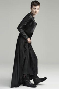 leather + maxi (Zara)