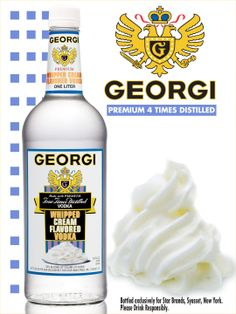 Georgi Whipped Cream Flavored Vodka