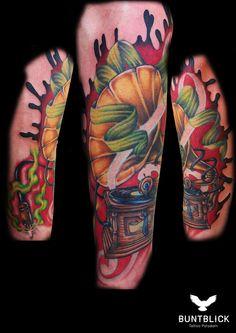 New School Tattoo - http://www.buntblick-tattoo.de/
