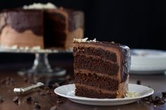 The Five Chocolates Chocolate Cake