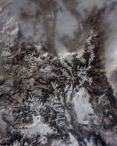 Rocky Mountain National Park. Viewed from the International Space Station on Jan. 26, 2015, the park's 100th anniversary. Beautiful. But shouldn't there be more snow at this time of year? (Image Credit: NASA/Terry Virts)