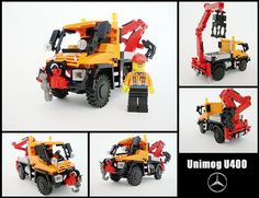 So, it's just smaller copy of famous Lego Technic set. Lego Technic Truck, Lego Technic Sets, Lego Truck, Lego Unimog, Lego Tractor, Tractors, Lego Military, Lego Construction, Toys