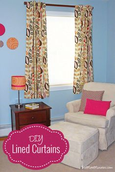 Lined Curtain Tutorial