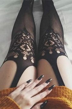 Women Sexy Open Crotch Crochet Lace Jacquard Fishnet Tights Pantyhose – LupsonaJewel summertime or maybe winte Stocking Tops, Stocking Tights, Curvy Girl Lingerie, Women Lingerie, Style Fête, Lingerie Valentines Day, Beste Jeans, Mode Glamour, Paris Mode