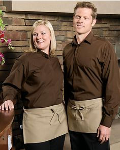 Three pocket waist apron is a restaurant essential. Long ties for back or front closure. Machine wash with like colors cool. Cafe Uniform, Hotel Uniform, Restaurant Uniforms, Staff Uniforms, Waist Apron, Half Apron, Apron Pockets, Long Ties, Closure