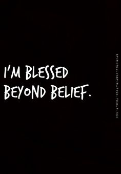 I'm blessed! Thank you Jesus!