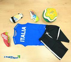 Nuovi arrivi bambino!  Completo #Champion Italia Pallone #Adiads Fifa World Cup #Brasil2014 Scarpa #calcio Adidas F10 TRX #Messi Parastinchi Adidas #Predator Scarpa #calcetto Adidas Predator  #AngoloOutfit by Michela Luddeni
