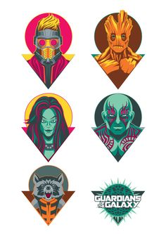 Guardians of the Galaxy by Chad Woodward for Poster Posse Project #9