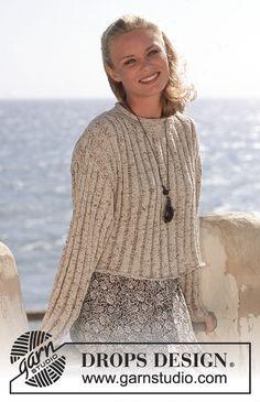 Free knitting patterns and crochet patterns by DROPS Design Knitting Kits, Sweater Knitting Patterns, Free Knitting, Drops Design, Crop Top Sweater, Jumper, Cardigan, Crop Top Pattern, Drops Patterns