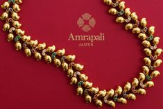 Beautiful silver gold plated necklace has a traditional ambi design which makes it absolutely striking. A simple and elegant necklace to add spark to your saree or suits. Buy online from Pure Elegance! Pearl Necklace, Beaded Bracelets, Pearls, Jewelry, Fashion, Unique Drawings, Fashion Jewelry, Craft Jewelry, Pear Necklace
