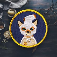 "Ash Fox Patch | Sew On | Embroidered | Patches for Jackets | 2.75"" (Free Shipping US) de ForTheLoveOfPatch en Etsy https://www.etsy.com/es/listing/261517273/ash-fox-patch-sew-on-embroidered-patches"