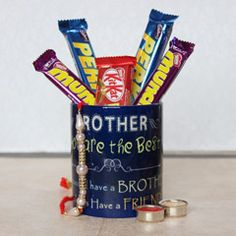 Send rakhi mug with chocolate for your dear brother