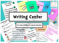 10 Writing Centers for Early Childhood or Special Education product from The-Autism-Helper on TeachersNotebook.com