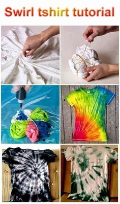 Swirl t-shirt tutorial