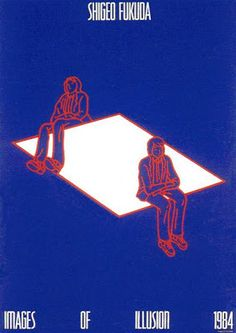 This piece from Shigeo Fukuda shows off greatly of how he used deception in his poster to make them different and draw attention to them. Graphic Design Posters, Graphic Design Inspiration, Graphic Art, Rhapsody In Blue, Plakat Design, Graphisches Design, Illusion Art, Poster S, Art Graphique