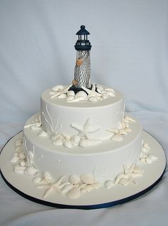 Lighthouse Wedding Cake With A Working Light X