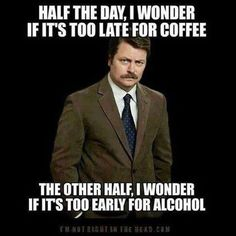 Ron Swanson (Parks & Recreation) - Coffee & Alcohol