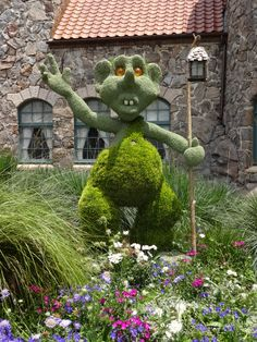 Troll topiary from the Epcot Flower and Garden Festival.  Take the full photo tour!