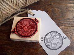 Holz-Segment-Stempel mit Initialen und der von stampcouture auf Etsy
