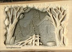 """The uncarved 1"""" margin area around the design helps to stabilize the carving, thus preventing excessive warping or cupping."""