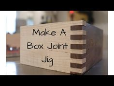 How To Make A Box Joint Jig is part of Woodworking jigs - Welcome back everyone Recently I have become a little obsessed with making box or finger joints I decided that I wanted to build a changing table for my so Woodworking Jigsaw, Woodworking Joints, Woodworking Crafts, Woodworking Plans, Youtube Woodworking, Workbench Plans, Woodworking Videos, Woodworking Furniture, Woodworking Quotes