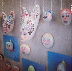 Local designer #VISAMEXICANA  at #brickandmortarliving  / #handpainted #jewellery #art