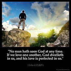 Inspirational Image for 1 John 4:12