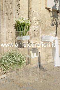 Amsicora - Fiori matrimonio in chiesa con mazzi di fiori di curcuma per nozze a Ruvo di Puglia (Bari)