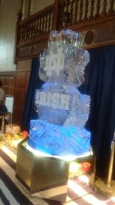 President's brunch ice sculpture by Danny at Notre Dame                                                                                                                                                                                 More
