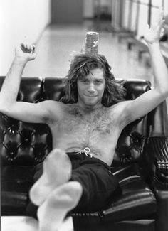 Jon Bon Jovi 1986. The man is super talented! He can sing, act, dance AND balance a tin can on his head!
