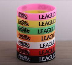 Wholesale 50pcs/lot LOL, League of Legends Wristband, Debossed Silicon Rare Glow Bracelet, Promotion Gift, Friends Gifts