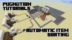 Compact and easy way to automatically sort items and transport them to an off site location. Can be used in mines, automatic wheat farms, mob grinders and mo. Minecraft Redstone Tutorial, Minecraft Redstone Creations, Minecraft Farm, Minecraft Construction, Minecraft Blueprints, Minecraft Memes, Minecraft Projects, Minecraft Designs, Minecraft Stuff